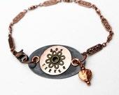 Joy Seeker Stamped Bracelet Heart Personalized Beaded Jewelry Boho Bohemian Rustic Mixed Metal Inspirational