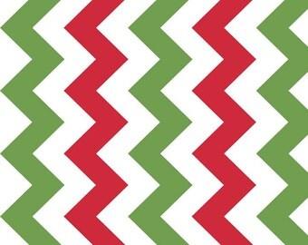 Medium Christmas Chevron fabric