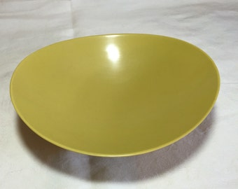 Vintage Florence Melmac Yellow Mustard Melamine Vegetable Oval Bowl By Prolon