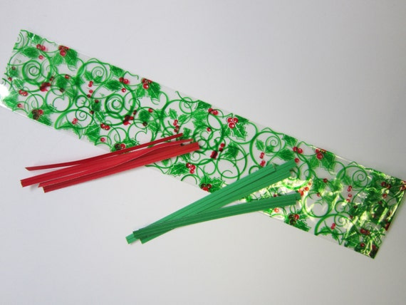 Holly cello pretzel bags holiday gifts goodies
