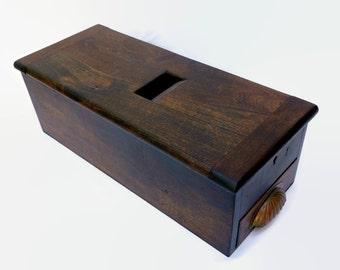 Antique Wood Cash Till Drawer Victorian Wooden Industrial Cash Register