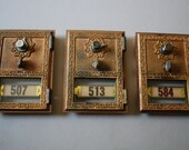 VINTAGE MAILBOX DOORS - Set of 3
