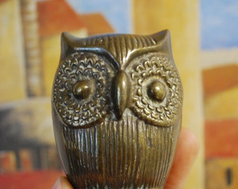 Antique BRASS OWL