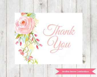 Baby Shower Thank You Printable | Garden Party Thank You Note | Baby Sprinkle Thank You Card