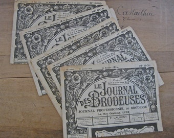 1920s embroidery pattern magazines 5 French Le journal des Brodeuses from 1926