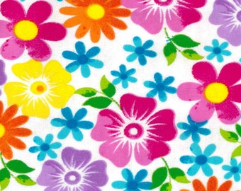 Snuggle Flannel Prints - Watercolor Floral - 31 inches