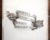 Guns N Roses Jewelry // Paradise City Bracelet // Rock Music Jewelry // Heavy Metal Jewelry // Lyrics Necklace // Custom Bracelet // Axl