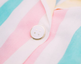 Tiny Button Pins - lapel pins, hard enamel, classy, button, pin, hat pin