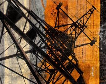 "High-voltage tower. Canvas Print by Irena Orlov 40x30"""