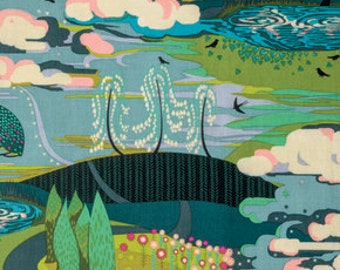 Anna Maria Horner - Fibs & Fables-Enchanted - Westminster Fibers (PWAH094.VIBRA) - 1 yard