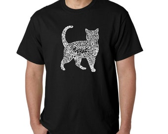 Men's T-shirt - Cat Created out of cat themed words
