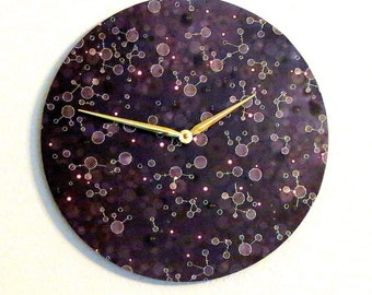 Constellation Wall Clock, Unique Wall Clocks, Home and Living, Astrology, Astronomy Clock, Decor & Housewares, Wall Decor, Unique Gift