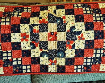 Stars and Stripes QUILTS for sale AMERICANA PATRIOTIC colors table runner decor'