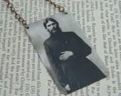 Rasputin necklace or pendant mixed media jewelry supernatural
