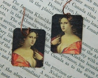 Composer earrings Francesca Caccini Composer jewelry Classical Music mixed media jewelry