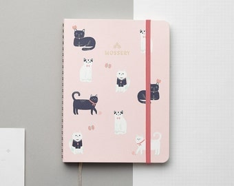SALES Cats Pink 2017 Gold Foil Personalized Planner