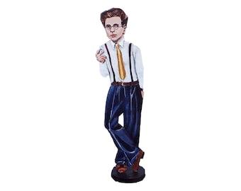 Aldous Huxley Hand Painted 2D Art Figurine