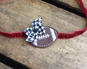 GAME DAY ~ football, college, game day, fall, feltie, appliqué, hair clip, headband