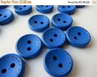 ON SALE Cobalt blue wooden buttons 14 mm set of 20 buttons nr. 91