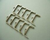 "CLOSING SALE 4"" x 1 1/2"" ( 10 CM ) Nickel Coin Purse Frames - Clutch Purse Frame - Rectangle Purse Frames -10 pcs Set"