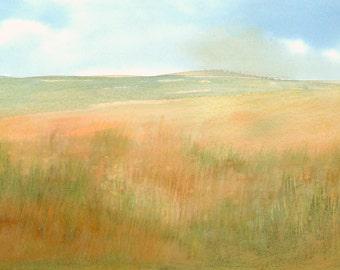 Dunes Landscape Artwork Fine Art Print from Original Watercolor Study