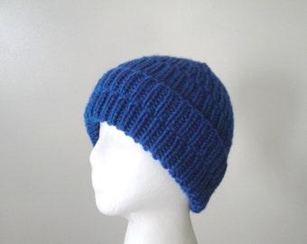 Chunky Knit Cap, Ribbed Hat, Warm Winter Hat, Women Men Teens, Toboggan