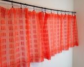 Vintage Curtains, Orange Mesh Curtains, Short Curtains, Net Curtains, Kitchen Curtains, Cafe Curtains
