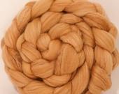 Hand dyed merino/ silk top for spinning  - Cutch - (4.4 oz.) merino/ sw merino /silk ( 40/40/20)