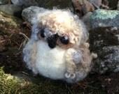 """Needle Felting Kit - """"Edmum"""" the Woodland Owlet Kit - Beginner's Felting Kit - Holiday Kit"""