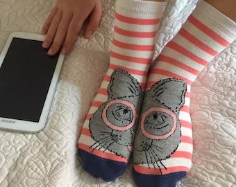 Boot Socks,Women Socks,Leg Warmer,Christmas Socks,Boot Socks,Ladies Casual Cotton Socks,Ankle Socks