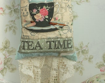 Tea Time Hanging Pillow