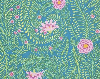 Kaffe Fassett for Rowan and Westminster Fibers - Ferns - Turquoise - 1/2 Yard Cotton Quilt Fabric  516