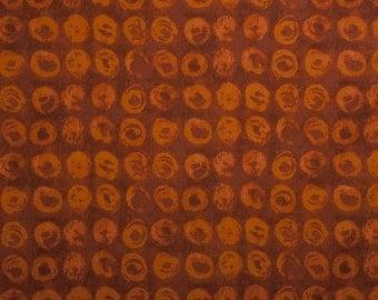 Marcia Derse -Line 5 Collection - Orange FQ Fat Quarter cotton quilt fabric 516