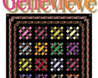 NEW - GENEVIEVE -  Quilt-Addicts Patchwork Quilt Pattern