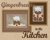 Counted Cross Stitch Pattern Gingerbread Baker & Chef Cute - 2 Whimsical Kitchen Designs - Color Symbols - Printed
