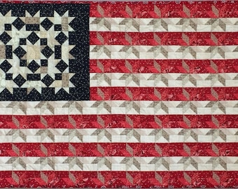 Flag No. 7 wall quilt