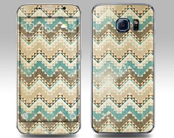 TRIBAL FADED PRINT Galaxy Decal Galaxy Skin Galaxy Cover Galaxy S6 Skin, Galaxy S6 Edge Decal Galaxy Note Skin Galaxy Note Decal Cover