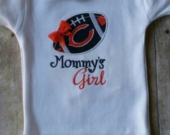 Chicago Bears Mommy's Girl Baby Shirt | bodysuit