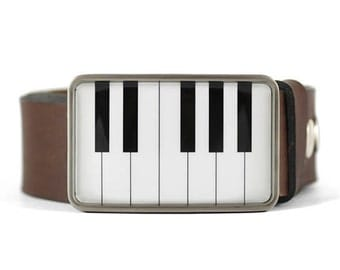 Piano Belt Buckle, Music Belt Buckle, mens accessory, gift for him, wedding accessory, mens belt buckle