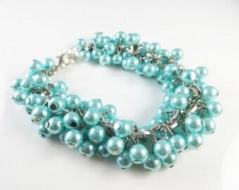 Baby blue cha cha bracelet