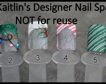 Designer Christmas Gel Artificial Nail Art