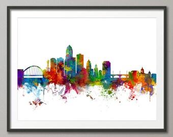 Des Moines Iowa Skyline, Art Print (2422)