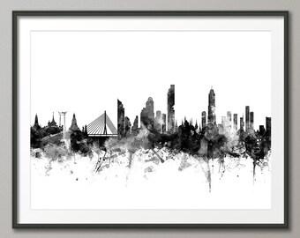 Bangkok Skyline, Bangkok Thailand Cityscape Art Print (2318)