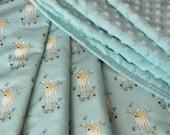 Gender Neutral Baby Blanket, Minky blanket, Little Fawn Baby Blanket, Toddler Blanket