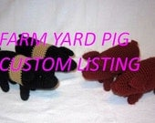 Hampshire Yorkshire PlanetJune Crochet FarmYard Pigs