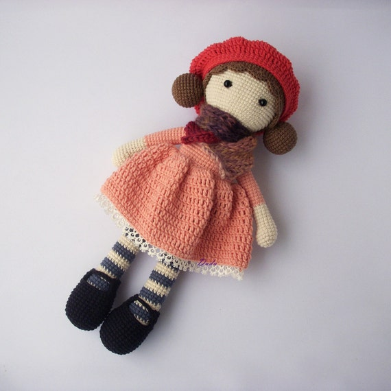 Beginner Crochet Toy Patterns : PDF Crochet doll Aria, crochet doll, Crochet Pattern ...
