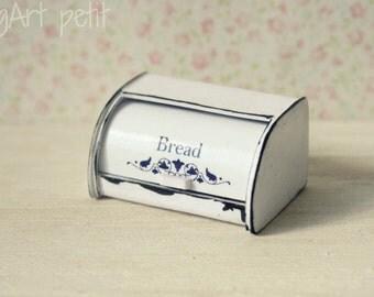Roll-top bread bin for dollhouse scale