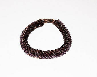 Beaded Purple Bracelet