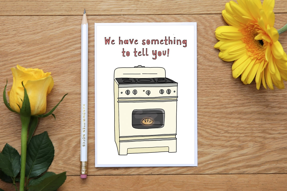Funny pregnancy card – Expecting a Baby Announcement Cards