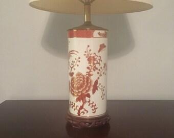 Chinoiserie Lamp with Cream Shade